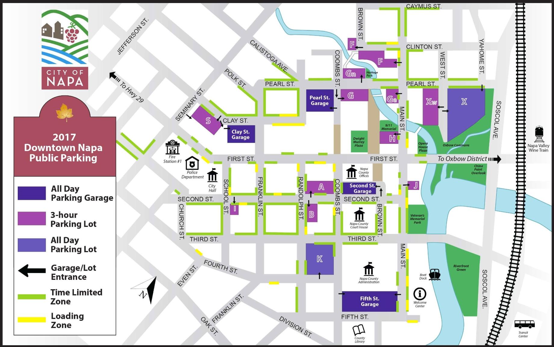 City of Napa parking map