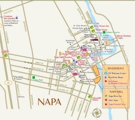 Napa tourist map