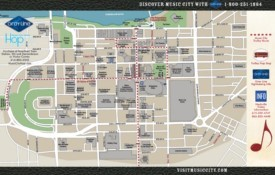 Nashville downtown map