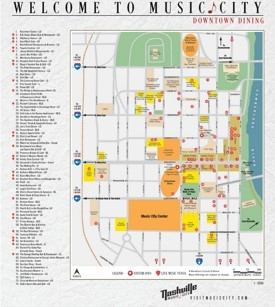 Nashville restaurant map
