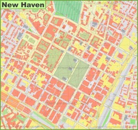New Haven downtown map