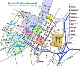New Haven tourist map