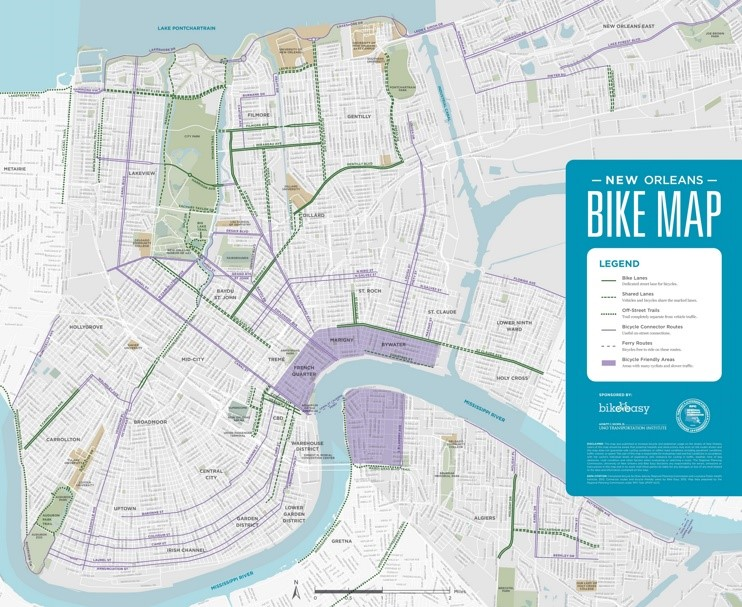 New Orleans bike map
