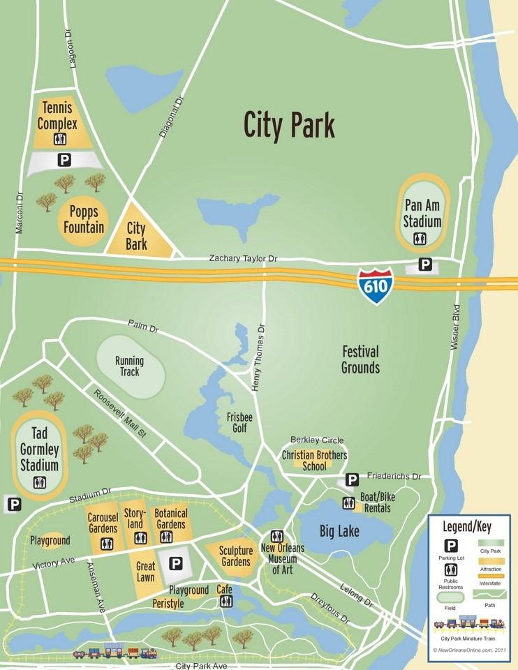 New Orleans City Park map