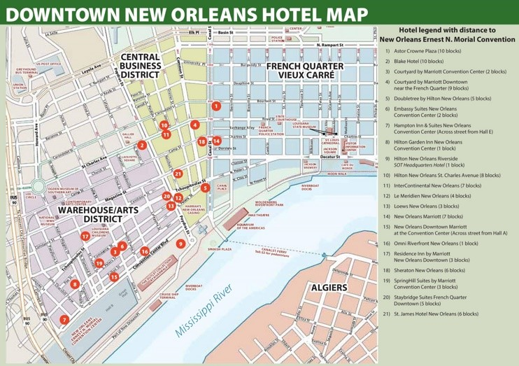 New Orleans Hotel Map French Quarter