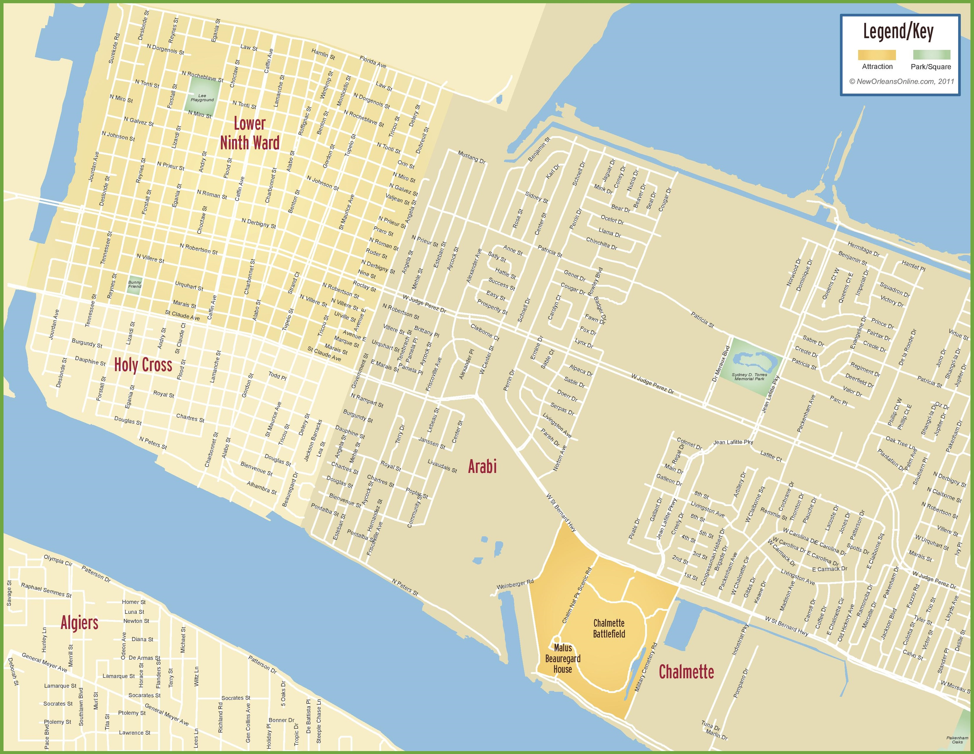 9Th Ward New Orleans Map New Orleans Ninth Ward map 9Th Ward New Orleans Map