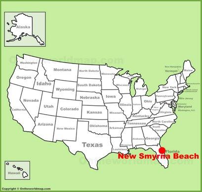 New Smyrna Beach Location Map