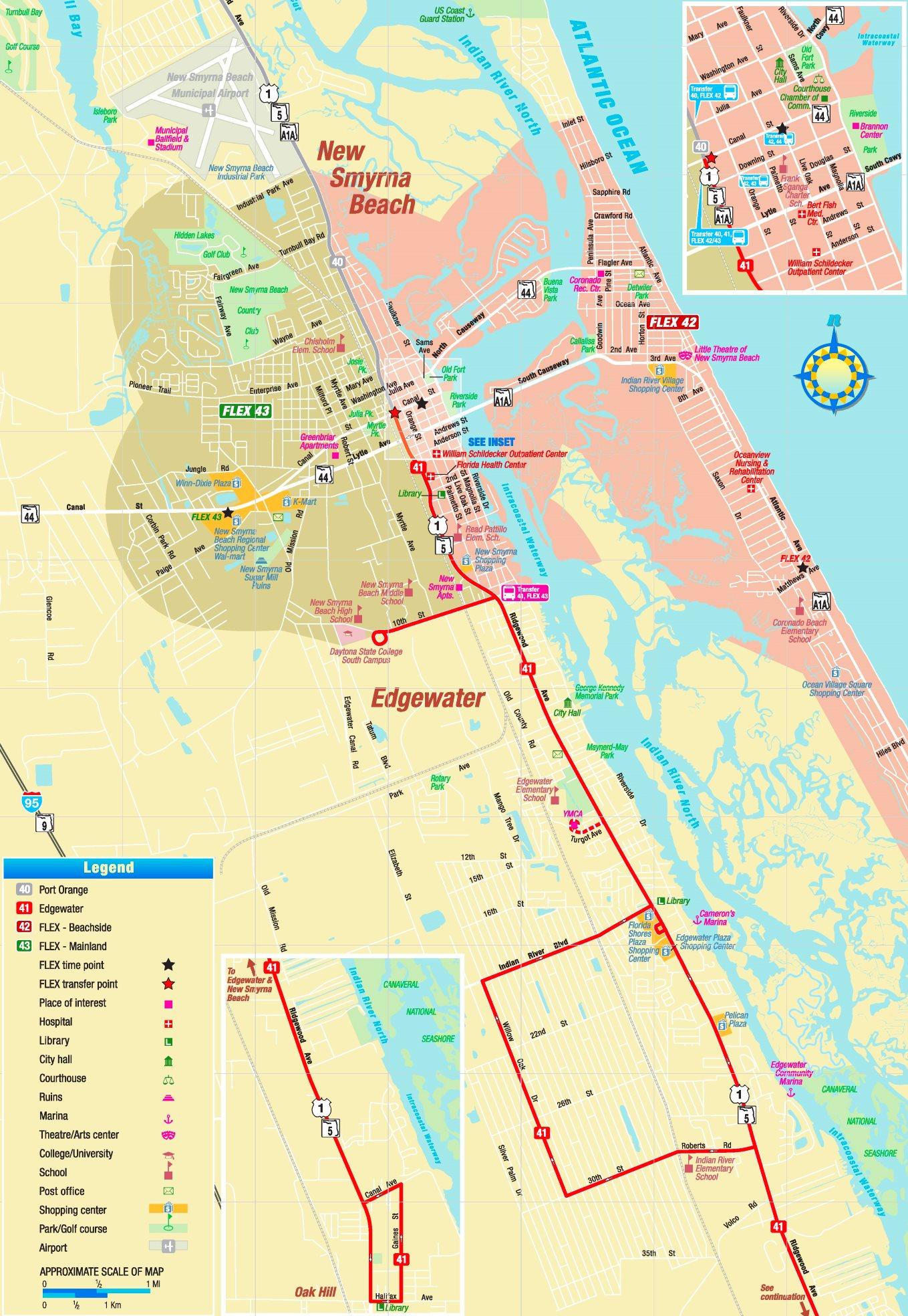 New Smyrna Beach Map New Smyrna Beach tourist map