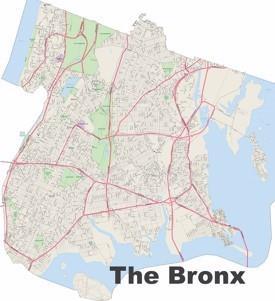 Bronx street map