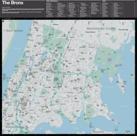 Bronx tourist map