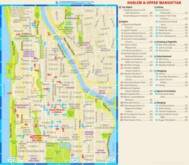 Harlem and Upper Manhattan Tourist Map