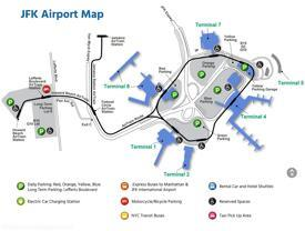 JFK airport overview map