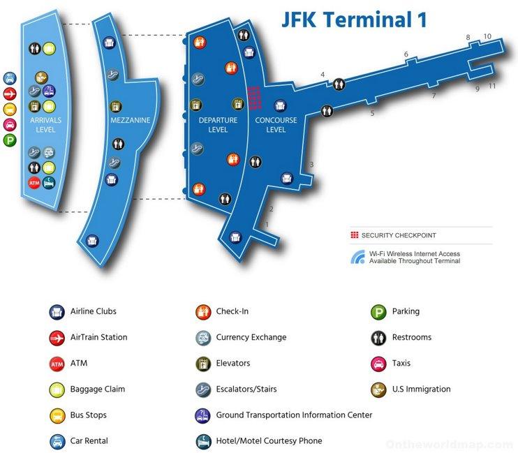 JFK Airport Terminal 1 Map
