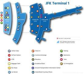 JFK Airport Terminal 1 Map