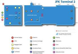 JFK Airport Terminal 2 Map