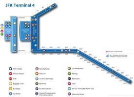 JFK Airport Terminal 4 Map