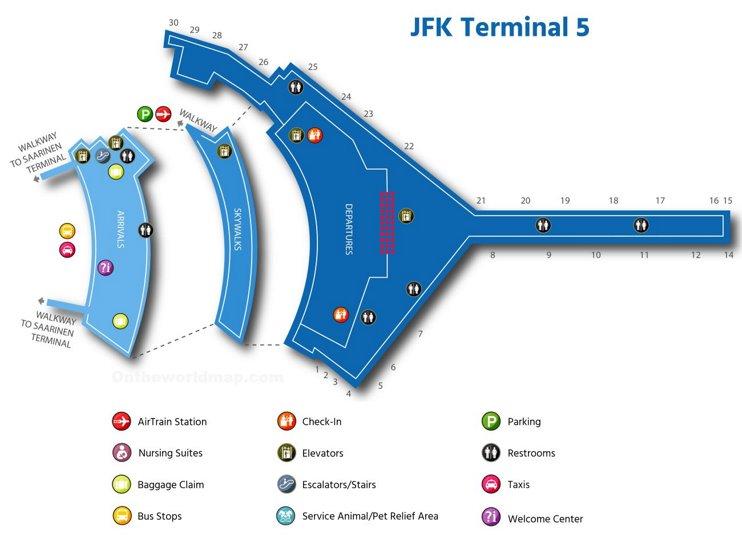 Jfk Airport Terminal 5 Map