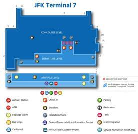JFK Airport Terminal 7 Map