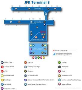 JFK Airport Terminal 8 Map