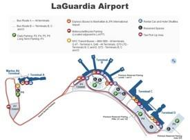 LaGuardia airport map