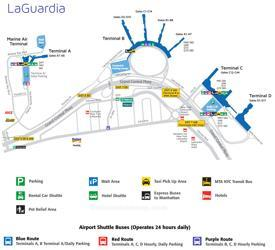 LaGuardia airport overview map