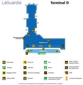 LaGuardia Airport Terminal D Map