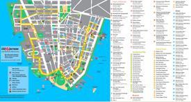 Lower Manhattan hotels and sightseeings map