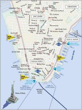 Manhattan Downtown map