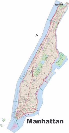 Manhattan street map