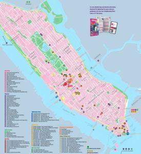 Manhattan Sightseeing Map