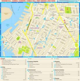 Map of Boerum Hill, Carroll Gardens, Cobble Hill, Fort Greene and Red Hook