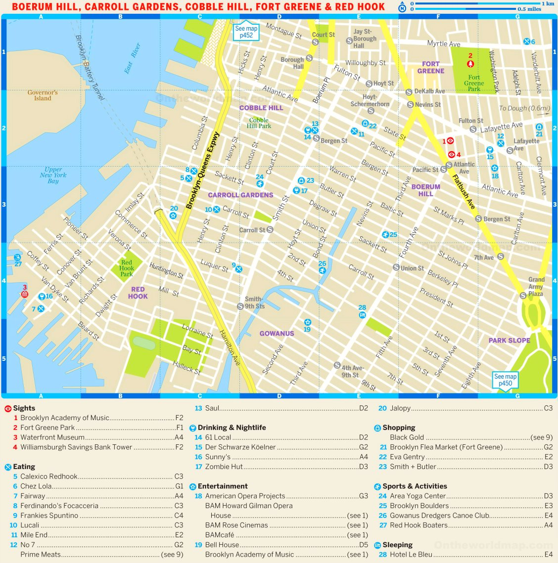 map of boerum hill brooklyn Map Of Boerum Hill Carroll Gardens Cobble Hill Fort Greene And map of boerum hill brooklyn
