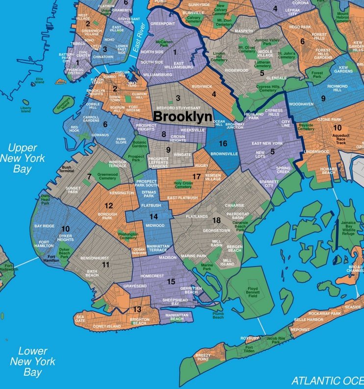 Map of Brooklyn neighborhoods