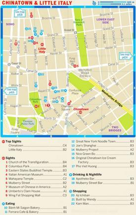 Map of Chinatown and Little Italy