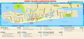 Map of Coney Island and Brighton Beach