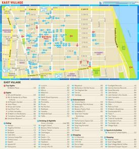 Map of East Village