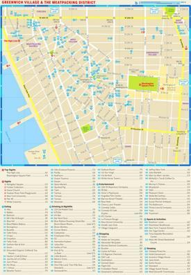 Map of Greenwich Village and Meatpacking District