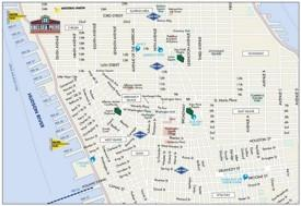 Map of Greenwich Village, Chelsea, Soho and Little Italy