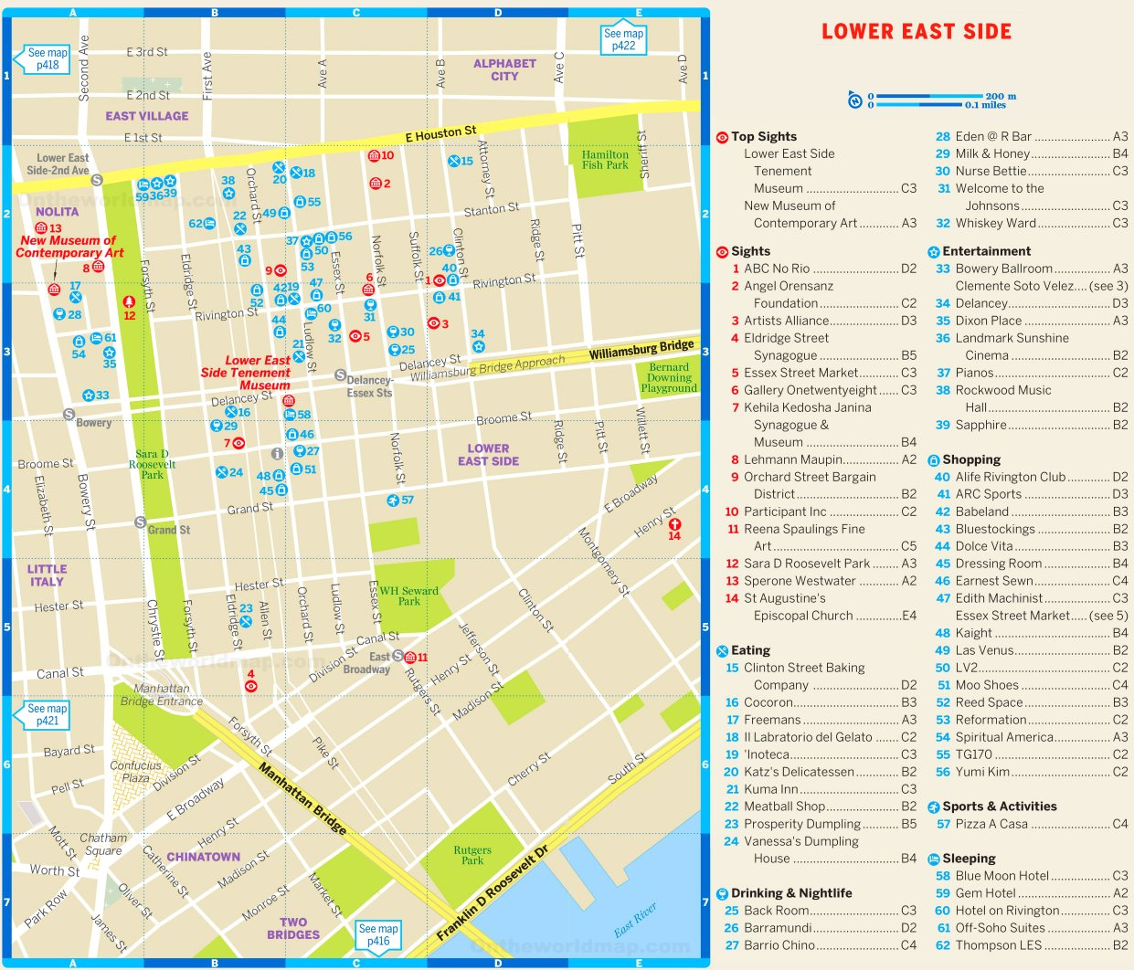 Map of Lower East Side