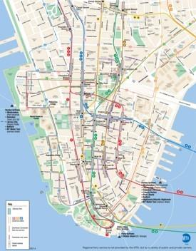 map of lower manhattan new york