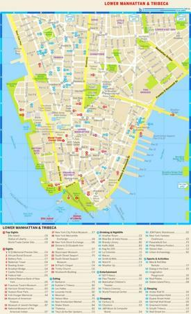 Map of Lower Manhattan and Tribeca