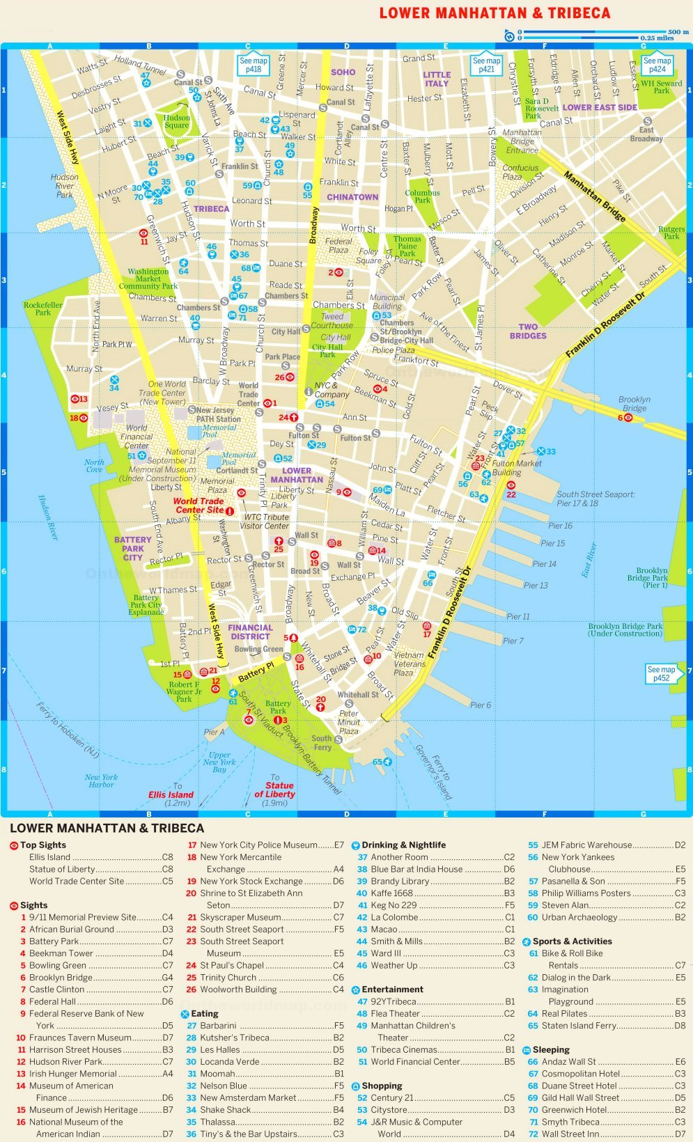 It's just an image of Printable Map of Manhattan pertaining to city