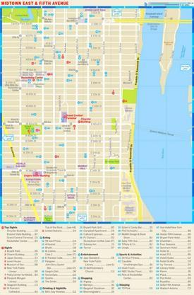 Map of Midtown East and Fifth Avenue‎