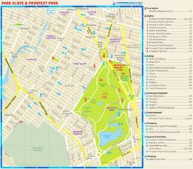 Map of Park Slope and Prospect Park