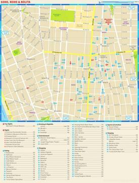 Map of SoHo, NoHo and Nolita