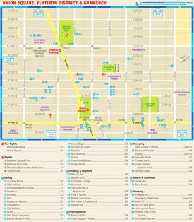 Map of Union Square, Flatiron District and Gramercy