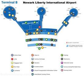 Newark Airport Terminal B Map