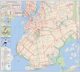 New York City cycling map