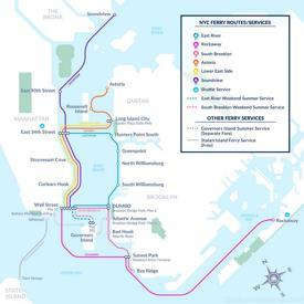New York City ferry map