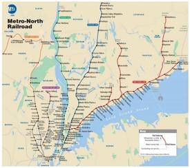 New York Metro-North Railroad (MNR) map